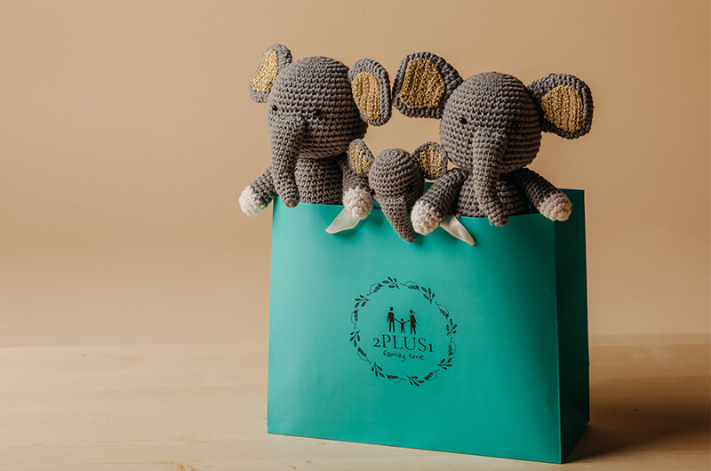Amazon.com: Bryco Baby Elephant Pacifier Holder - Includes ... | 530x800
